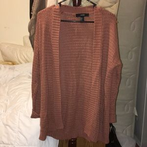 Peach/brown/nude knit cardigan